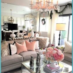 Pink And Grey Living Room Decor 1