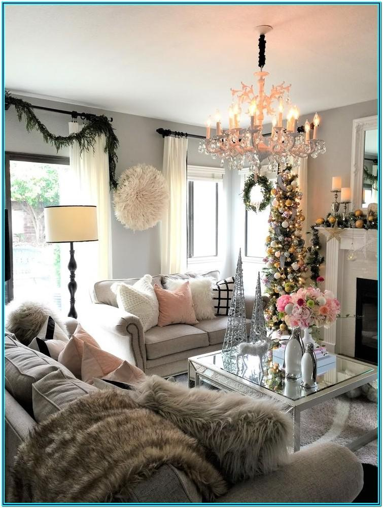 Pinterest Living Rooms Decorated For Christmas
