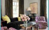 Purple And Black Living Room Decor