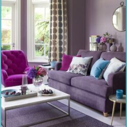 Purple And Grey Living Room Decorating Ideas