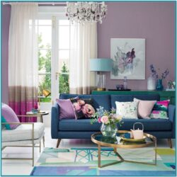 Purple And Red Living Room Decor