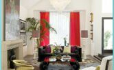Purple And Red Plaid Decor Living Room