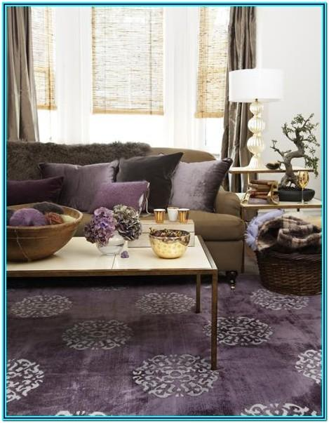 Purple And Tan Living Room Decor
