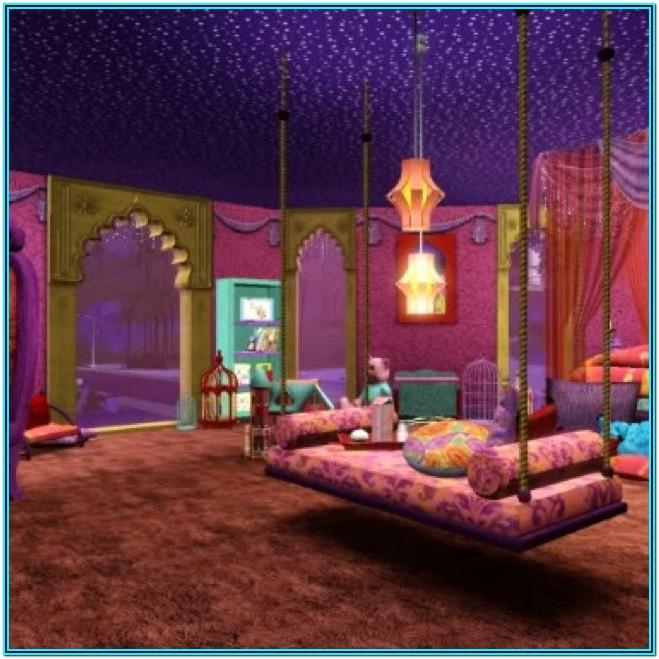 Purple Arabian Decor For Living Room