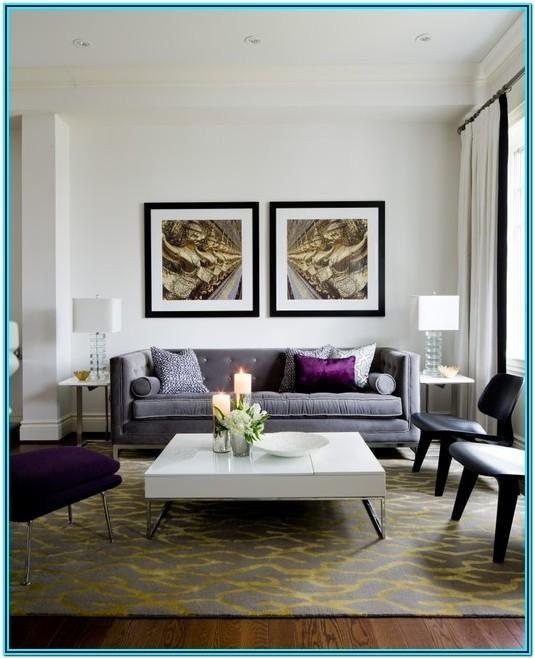 Purple Living Room Accent Decor