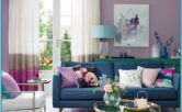 Purple Wall Decor Living Room