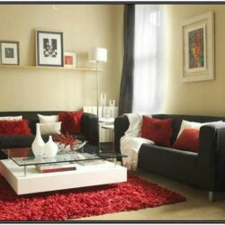 Red And Black Living Room Decorating Ideas 1