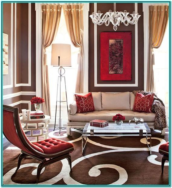 Red And Brown Living Room Decorating Ideas