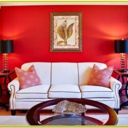 Red And Gold Living Room Decorating Ideas 2