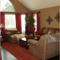 Red And White Living Room Decorating Ideas Scaled
