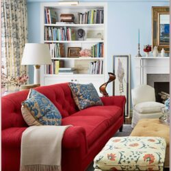 Red Sofa Living Room Decor