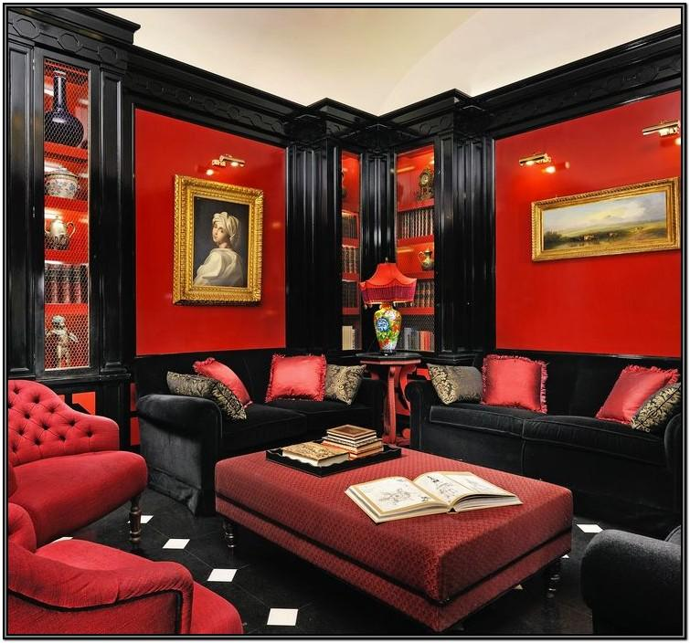 Red White And Black Living Room Ideas