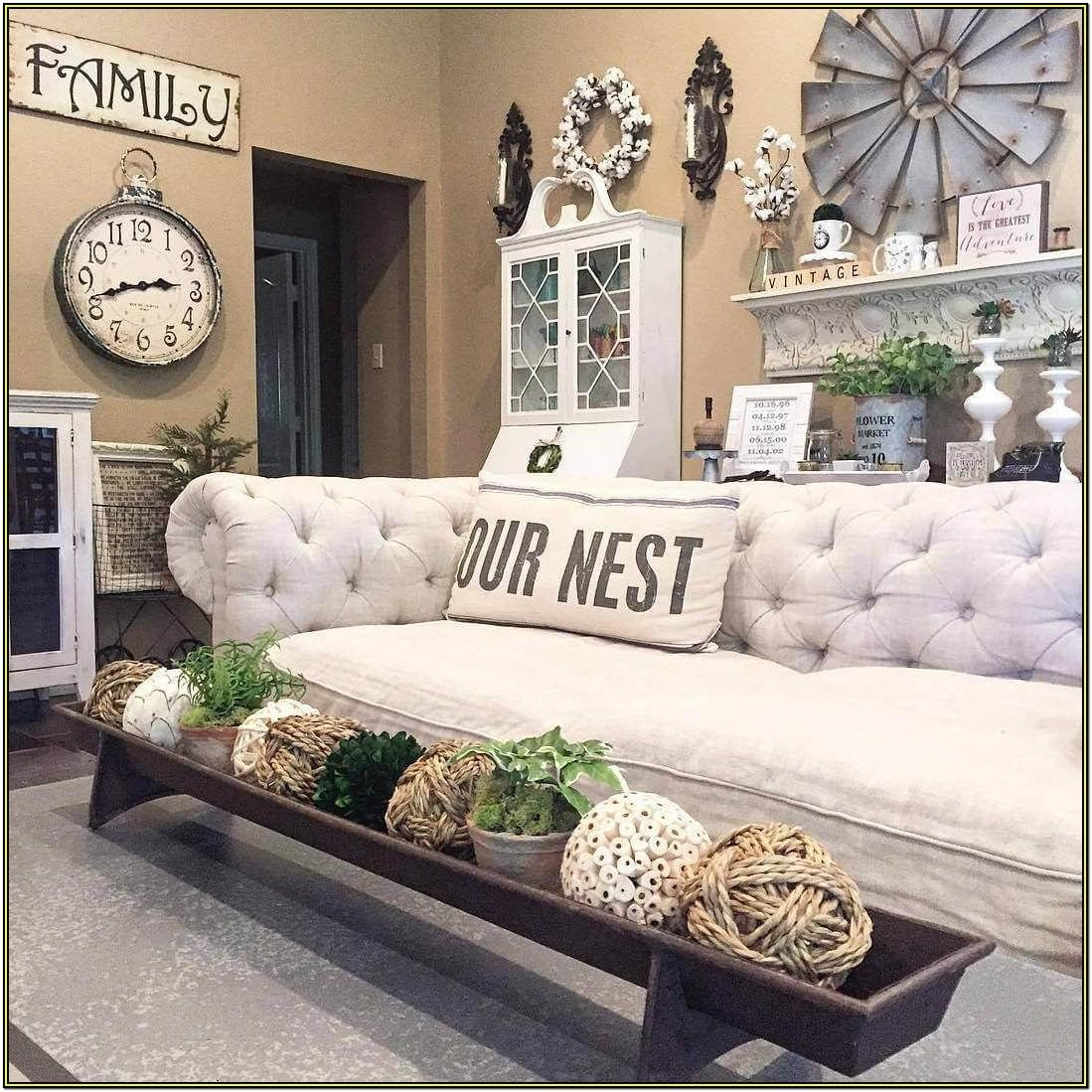 Rustic Farm Living Room Decor