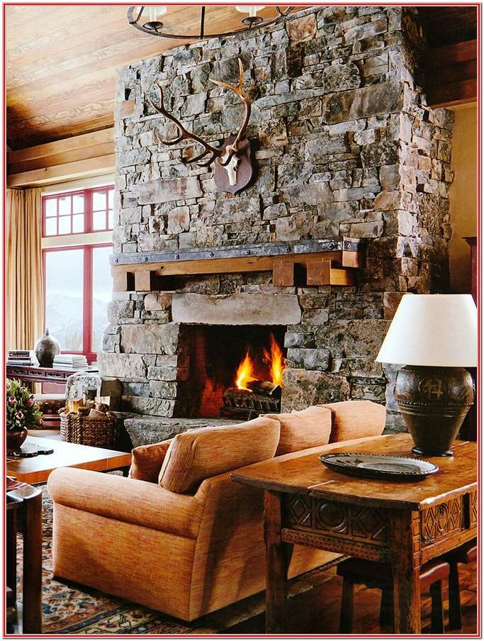 Rustic Fireplace Decor Living Room