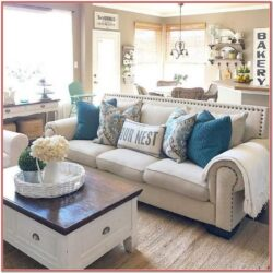 Rustic Living Room Decor Teal