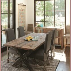 Rustic Living Room Fining Room Decorating