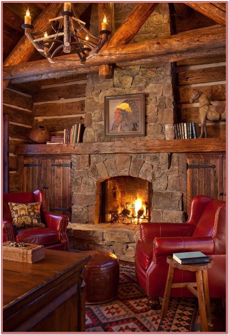 Rustic Living Room Fireplace Decor