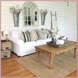 Rustic Living Room Sofa Wall Decor