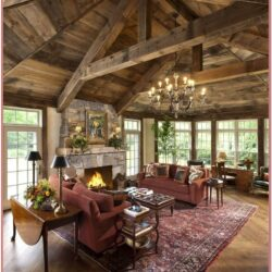 Rustic Style Living Room Decorating Ideas