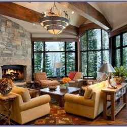Rustic Warm Living Room Decor