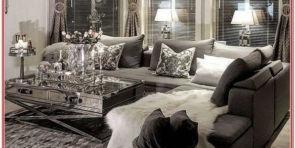 Silver And White Living Crystal Room Decor