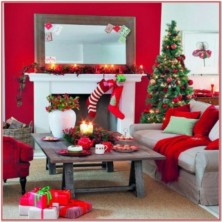 Simple Living Room Christmas Home Decor Ideas