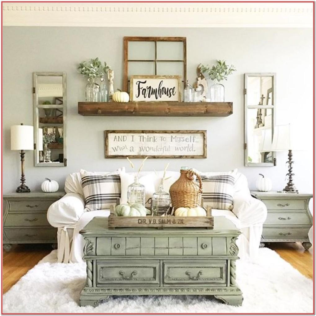 Simple Rustic Farmhouse Living Room Decor