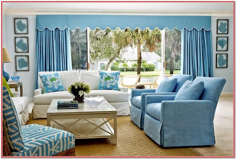 Sky Blue Living Room Decoration