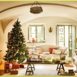 Small Living Room Christmas Decoration Ideas