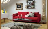Small Red Decorative Chair For Living Room