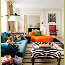 Teal And Orange Living Room Decor Ideas 1