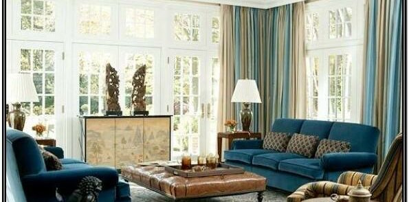 Teal Blue And Brown Living Room Ideas