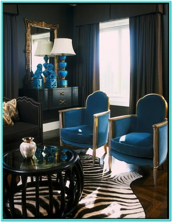 Turquoise And Black Living Room Decor
