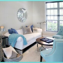 Turquoise And Gold Living Room Decor