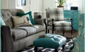 Turquoise And Gray Living Room Decor