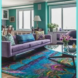 Turquoise And Purple Living Room Decor