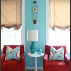 Turquoise And Red Living Room Ideas