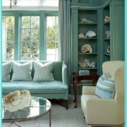 Turquoise Blue Living Room Decor