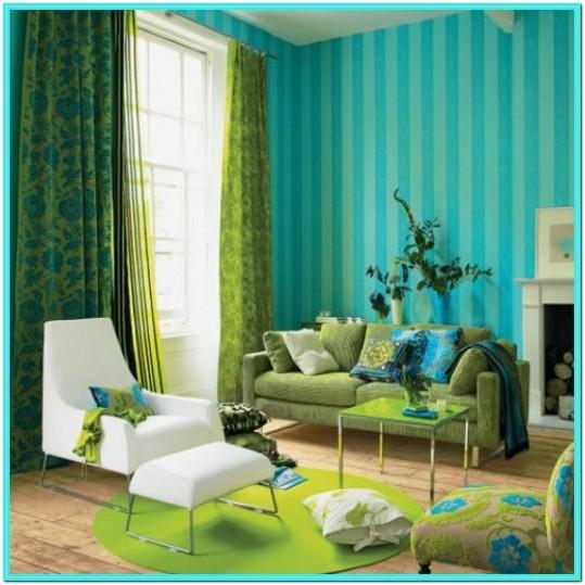 Turquoise Green Living Room Decor