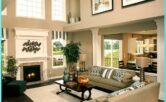 Two Story Living Room Decor