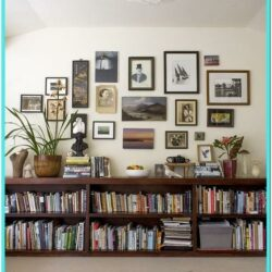 Unique Living Room Bookshelf Decorating Ideas