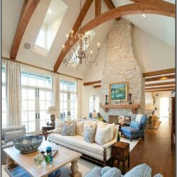 Vaulted Ceiling Living Room Lighting Ideas Low Ceiling