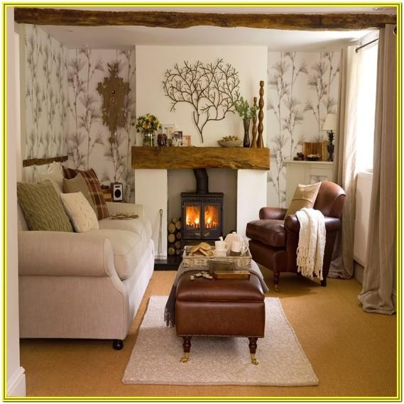 Wallpaper Ideas Living Room Fireplace