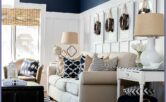 White And Navy Decor Ideas Living Room