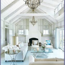 White And Navy Living Room Elle Decor