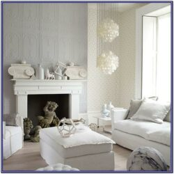 White And Silver Living Room Decor