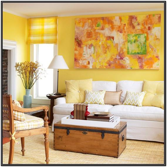White And Yellow Living Room Ideas