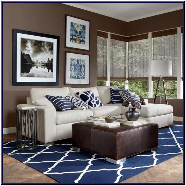 White Blue Brown Living Room Decor