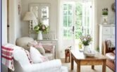 White Country Living Room Decorating Ideas