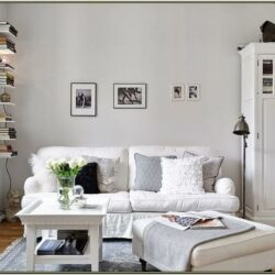 White Furniture Living Room Decorating Ideas 1